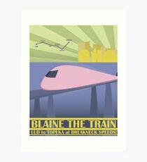 Lámina artística Viaje a Blaine Rail