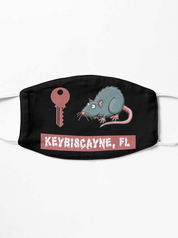Alternate view of Key Rat Keybiscayne, FL T-Shirt Design Mask