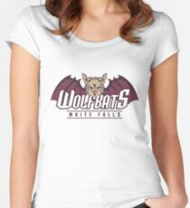 White Falls Wolfbats Women's Fitted Scoop T-Shirt