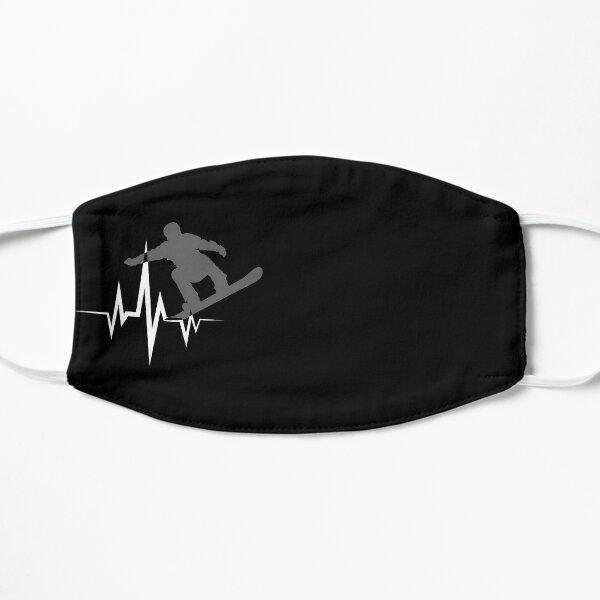 Cool Snowboarder Heartbeat Snowboarding Heart Beat Mask