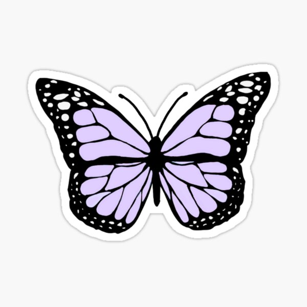 lavender butterfly Sticker