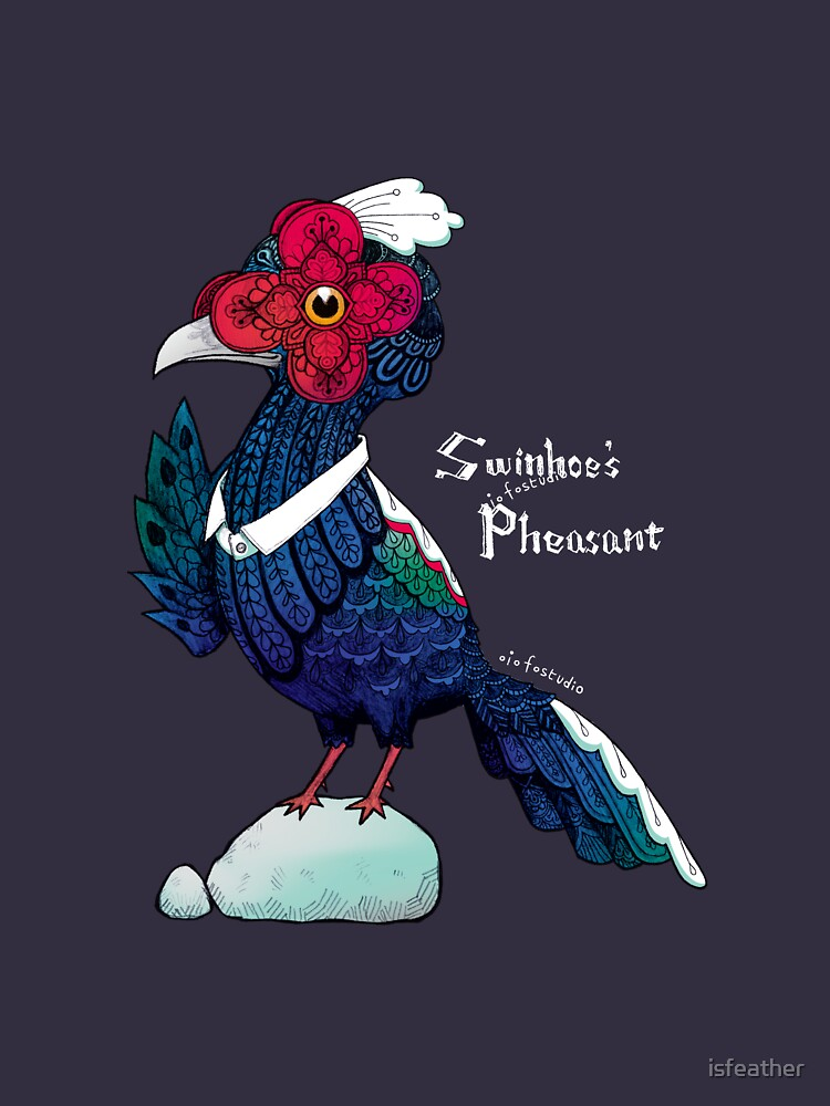 Swinhoes Pheasant - Black by isfeather