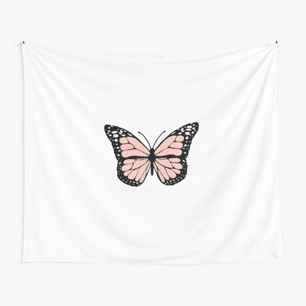 light pink butterfly Tapestry