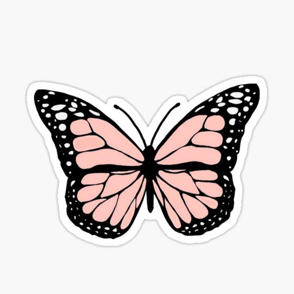 light pink butterfly Sticker