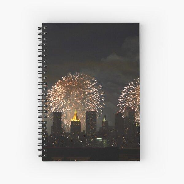 Fireworks over NYC Spiral Notebook