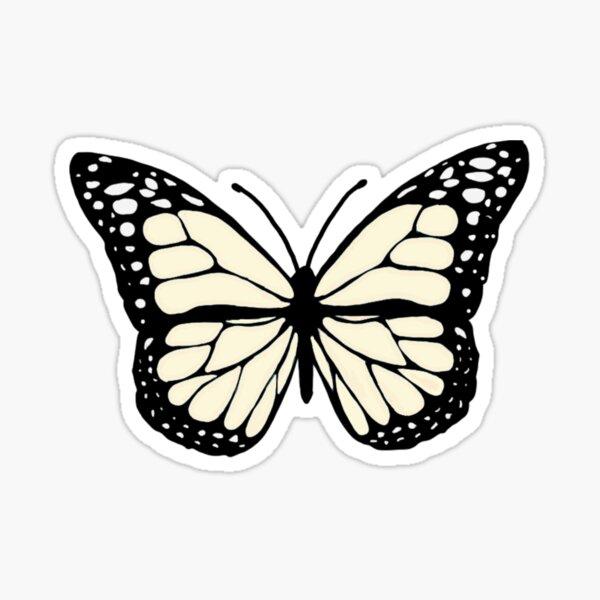 cream butterfly Sticker