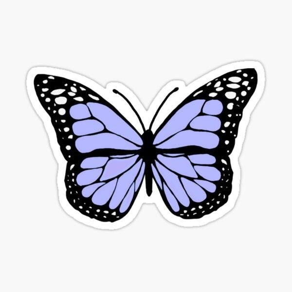 pastel purple butterfly Sticker