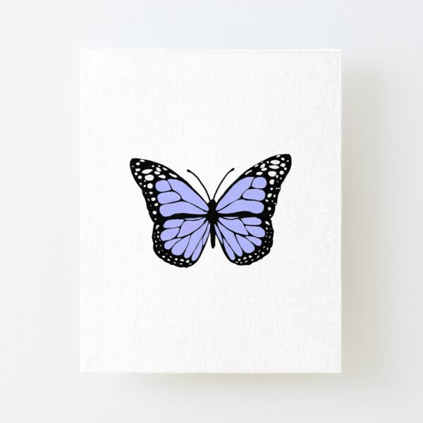 pastel purple butterfly Canvas Mounted Print