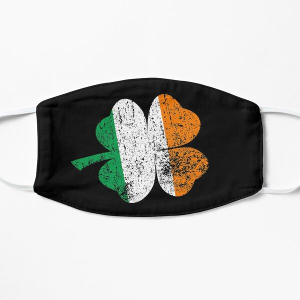 Vintage Irish Shamrock Flag St. Patrick's Day T-Shirt - Time For Some Shenanigans Gift Irish Flag in Shamrock Mask