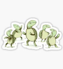 Dancing Turtles Sticker