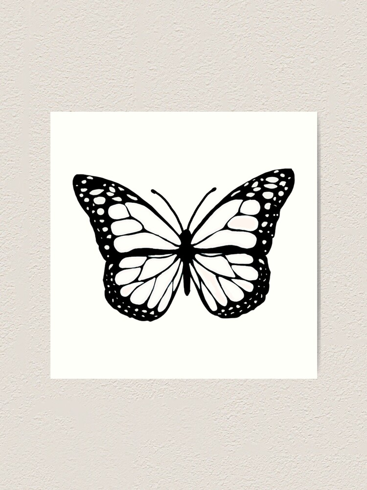 Alternate view of white butterfly Art Print