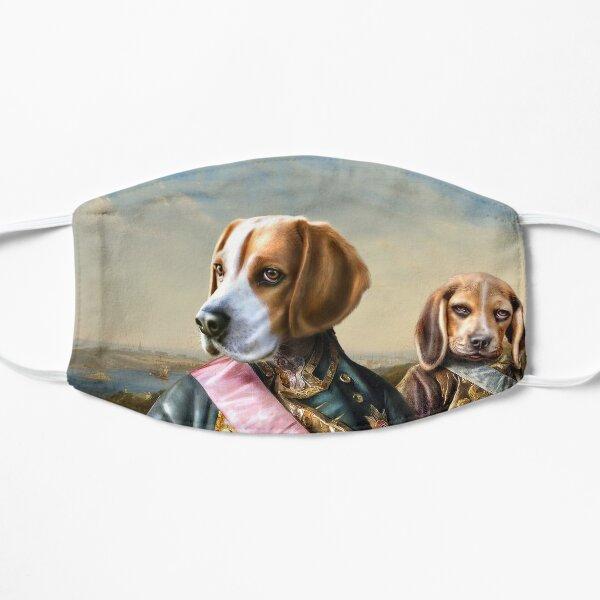 Beagle Dog Portrait - Tarzan and Archie Flat Mask