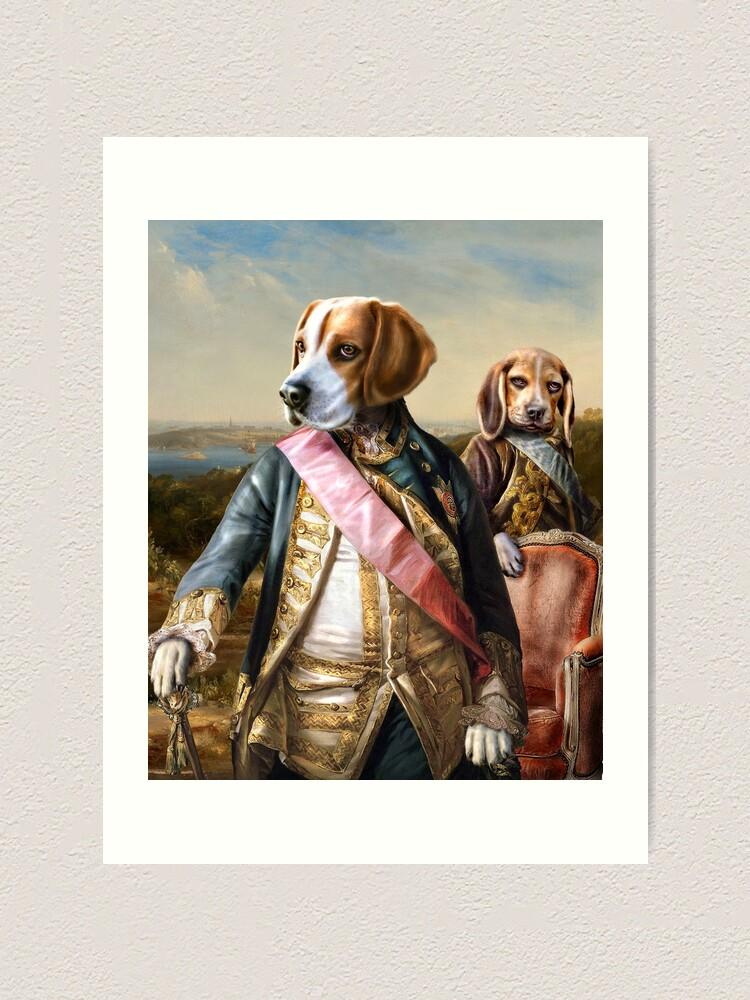 Alternate view of Beagle Dog Portrait - Tarzan and Archie Art Print