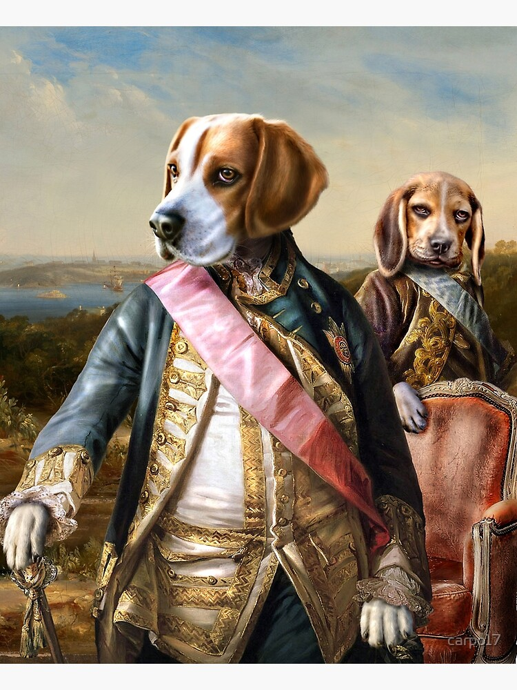 Beagle Dog Portrait - Tarzan and Archie by carpo17