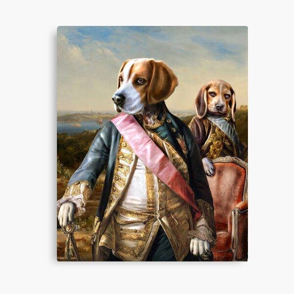 Beagle Dog Portrait - Tarzan and Archie Canvas Print
