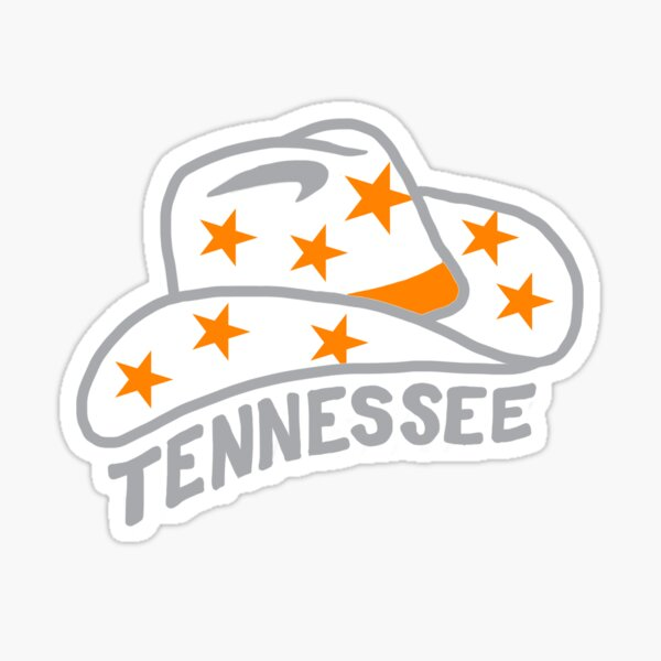University of Tennessee Cowboy Hat Sticker