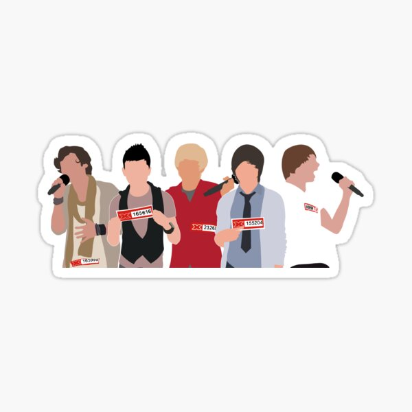 Young One Direction Auditions (Horizontal Format) Sticker