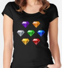 Chaos Emeralds Women's Fitted Scoop T-Shirt