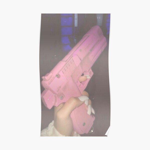 Aesthetic Pink pistol Poster