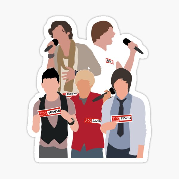 Young One Direction Auditions (Stacked Format) Sticker