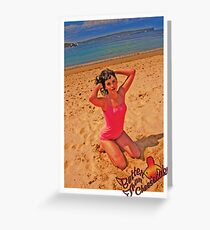 BTC PinUp 8 Greeting Card