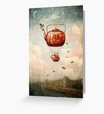 Tea for Two at Dusk Greeting Card