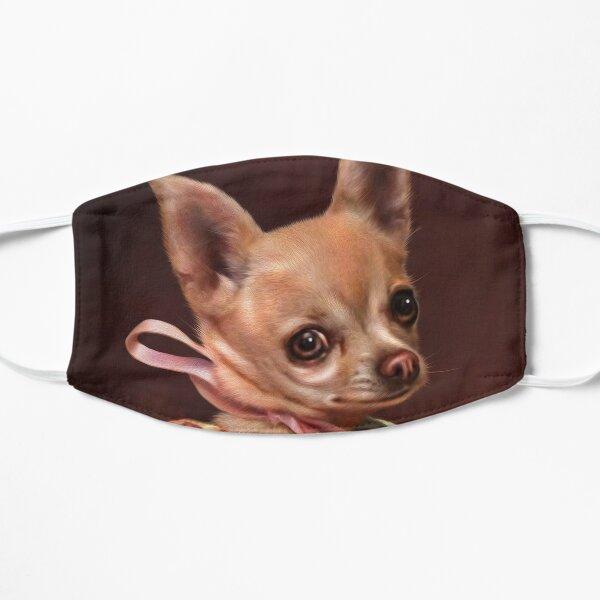 Chihuahua Portrait - Mabel Flat Mask
