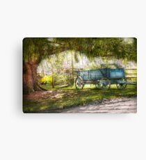 Country - The old wagon out back  Canvas Print