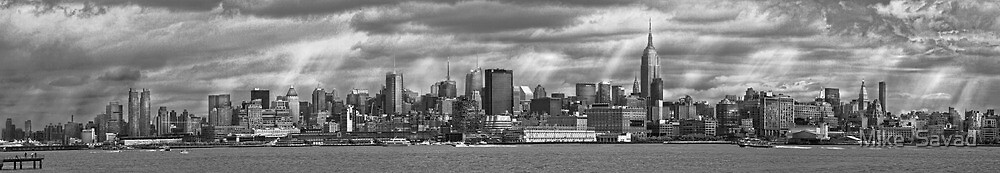 City - Skyline - Hoboken, NJ - The ever changing skyline - BW by Michael Savad
