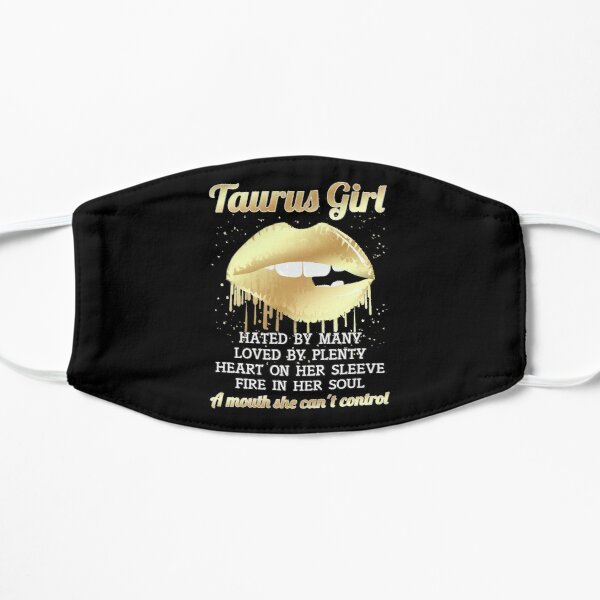 I'm a Taurus Girl Shirt Funny Zodiac Taurus Birthday T Shirt for Women Flat Mask