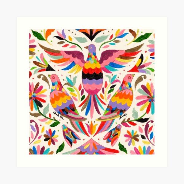 Otomi birds Art Print