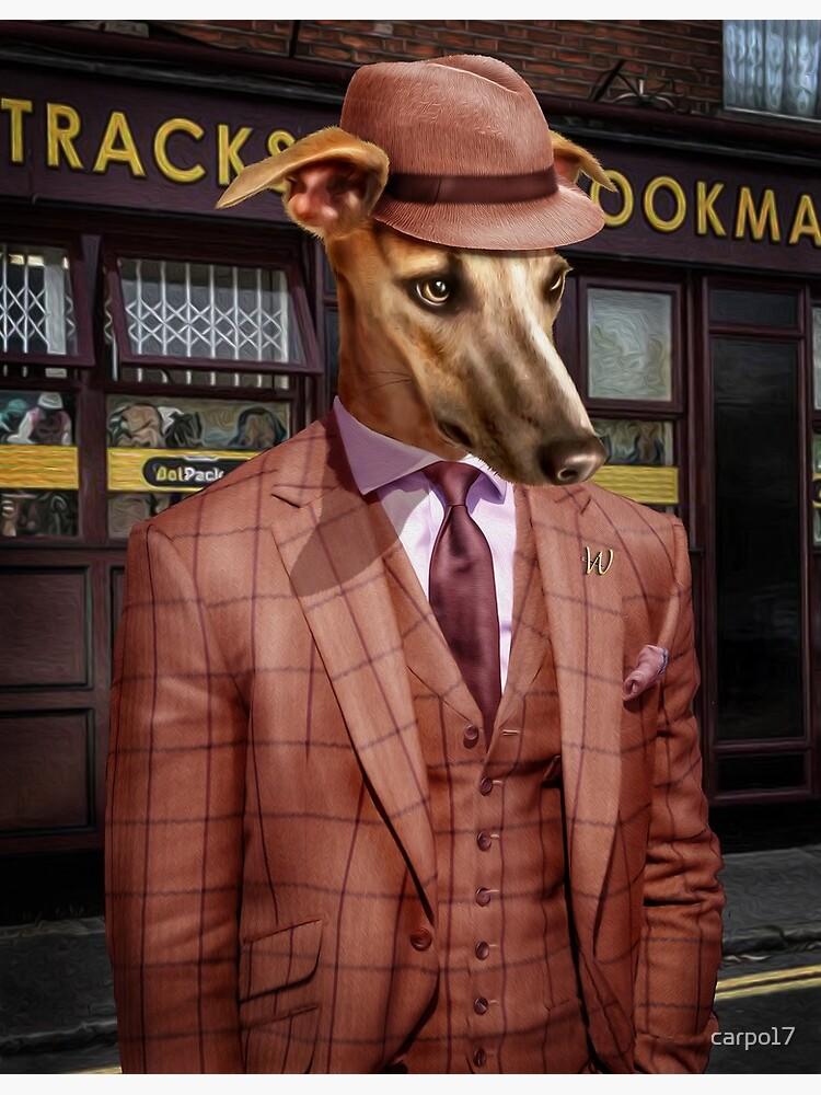 Greyhound Dog Portrait - Wiley by carpo17