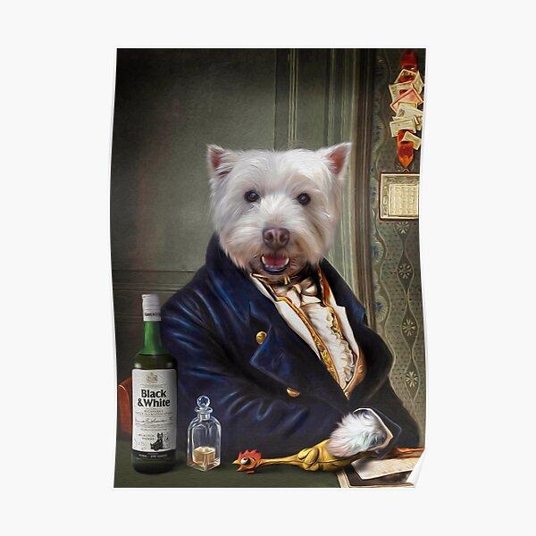 Westie Dog Portrait - Romeo Poster