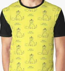 Happy Caturday - Ginger Cat Graphic T-Shirt