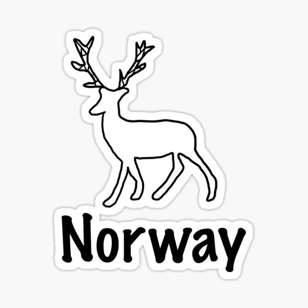 Rentier | Norwegen, Skandinavien, Wildtier Sticker
