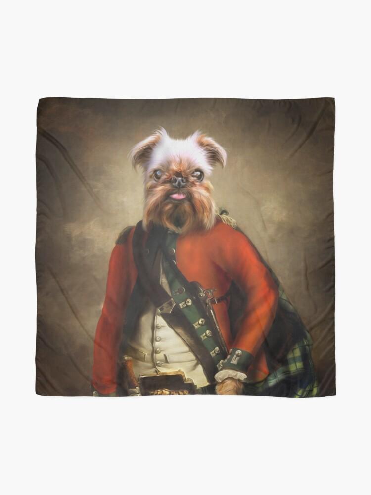 Alternate view of Griffon Bruxellois Dog Portrait - Jack Scarf