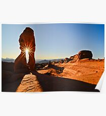 sunset through Delicate Arch Poster