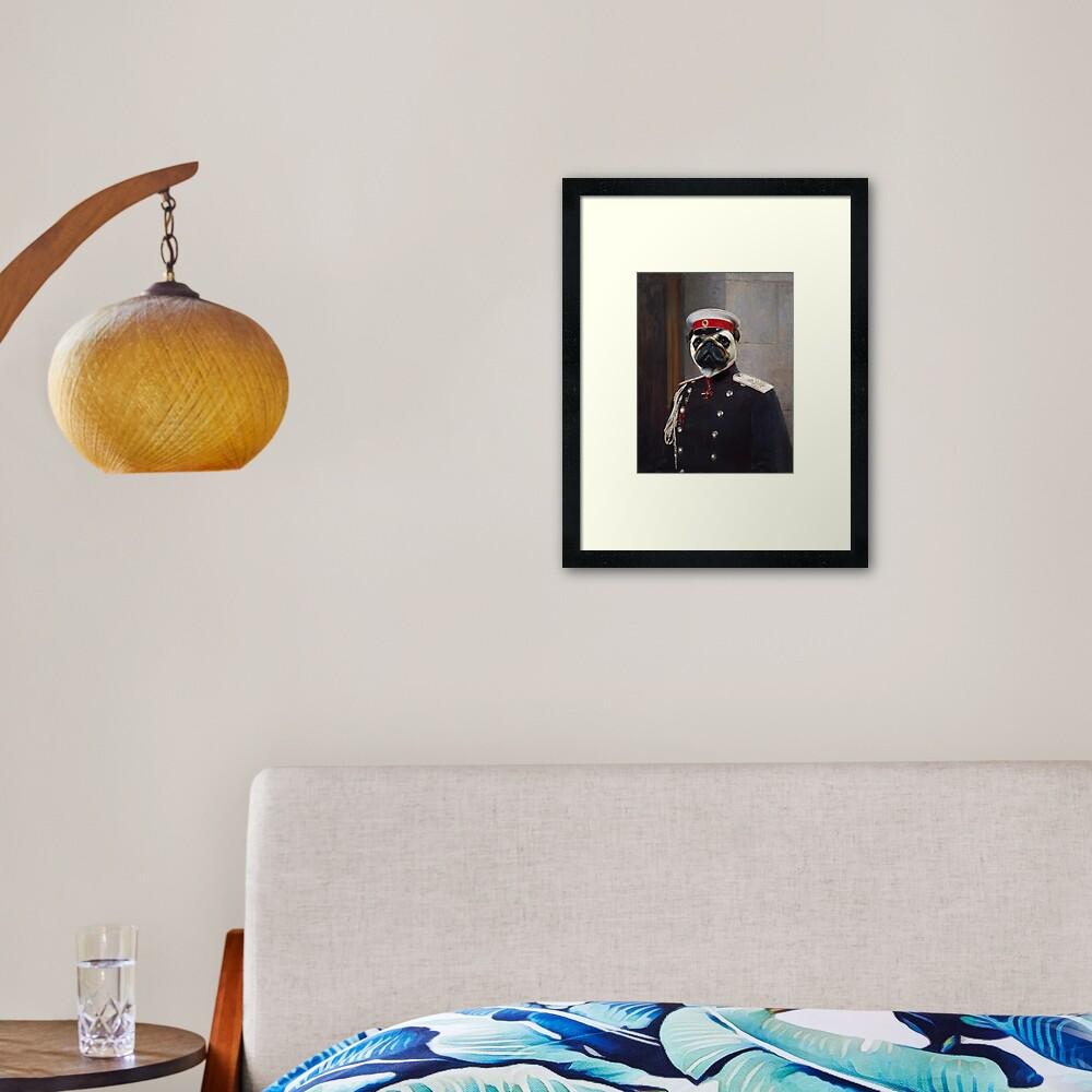 Pug Dog Portrait - Harry Framed Art Print