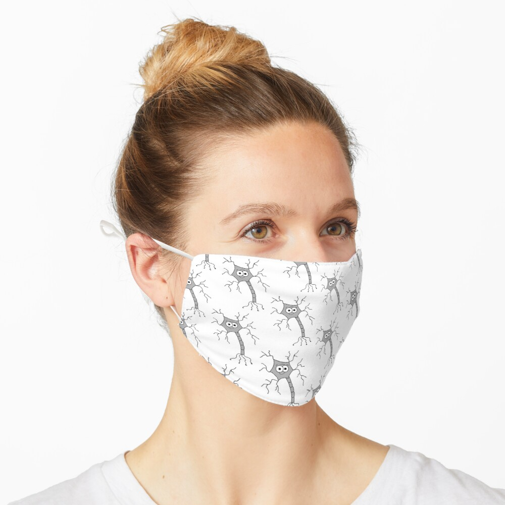 Cute Neuron - on white Mask