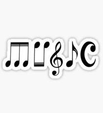 Musik Logo Sticker