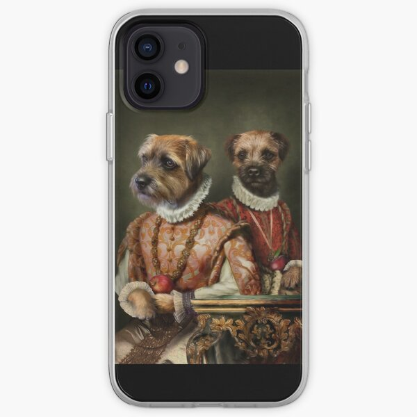 Border Terrier Dog Portrait - Holly and Ivy iPhone Soft Case