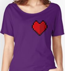 Pixel heart - I love retro Women's Relaxed Fit T-Shirt