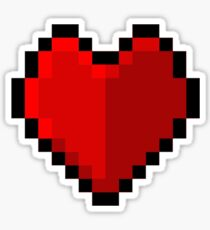 Pixel heart - I love retro Sticker