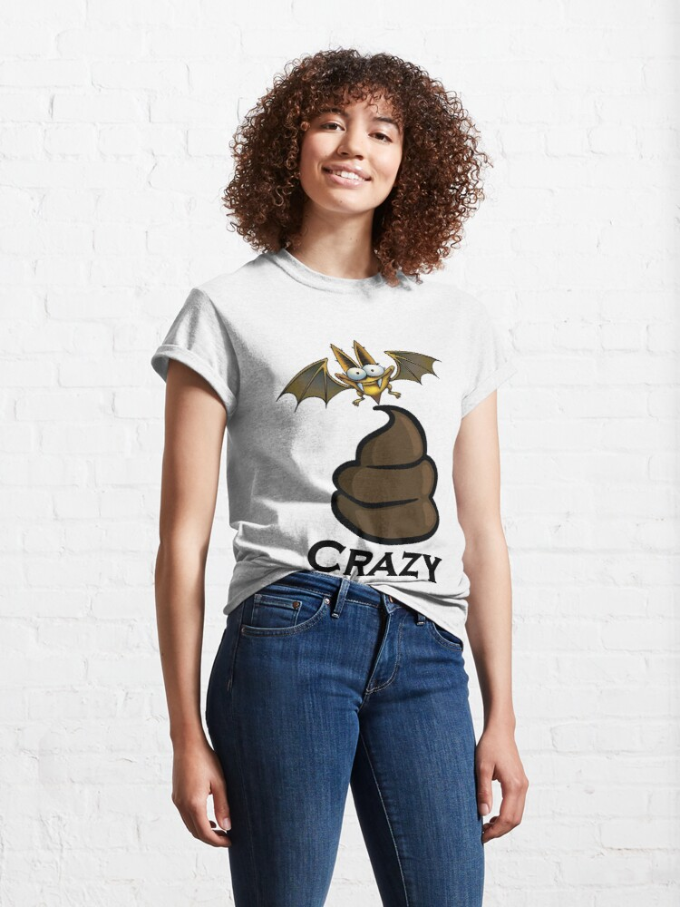 Alternate view of Bat Sh-t Crazy Design by MbrancoDesigns Classic T-Shirt