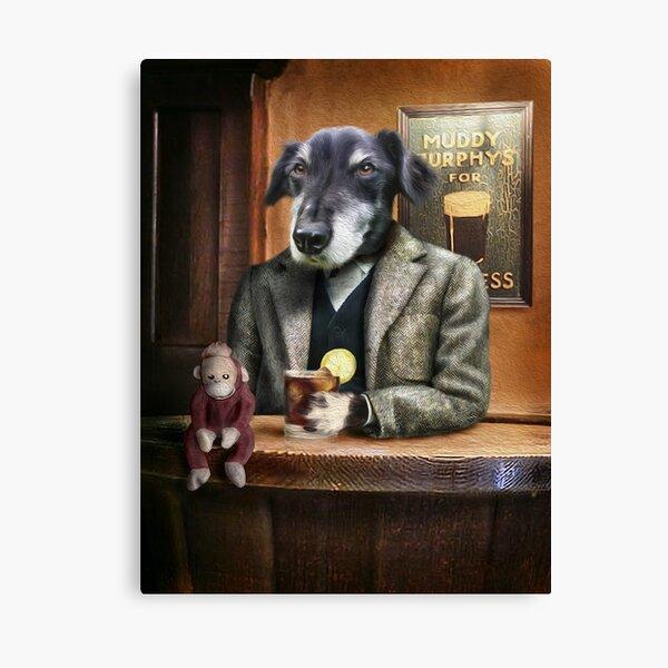 Dog Portrait - Guiness Canvas Print