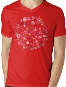 Summer Flowers Mens V-Neck T-Shirt