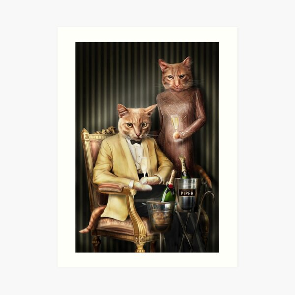Cat Portrait - Moet and Piper Art Print