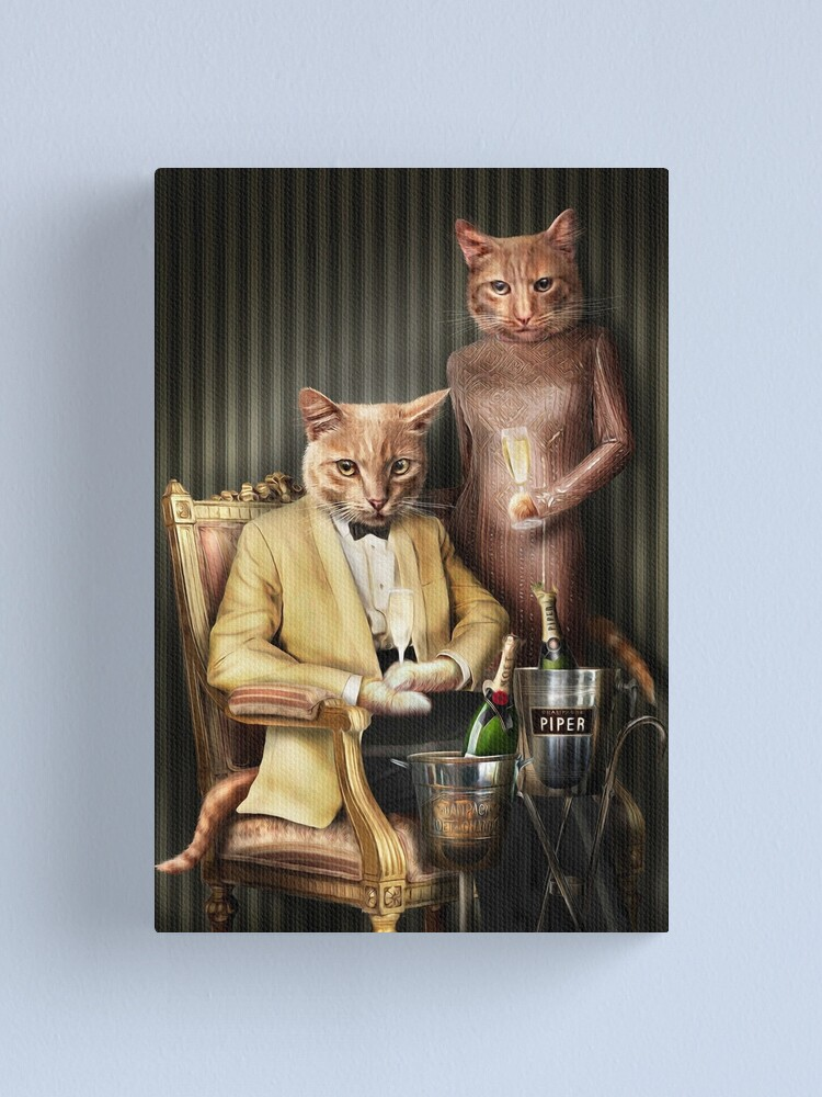 Alternate view of Cat Portrait - Moet and Piper Canvas Print