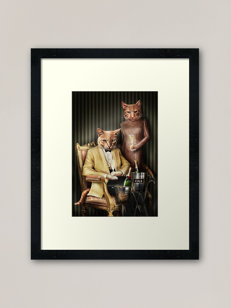 Alternate view of Cat Portrait - Moet and Piper Framed Art Print