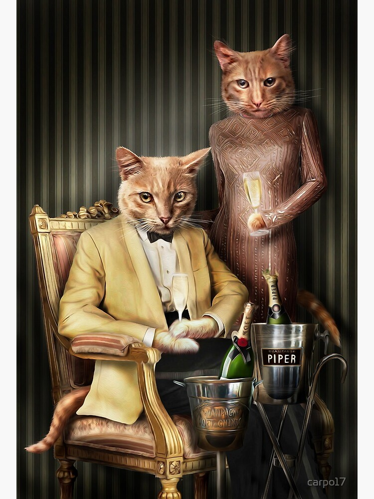 Cat Portrait - Moet and Piper by carpo17